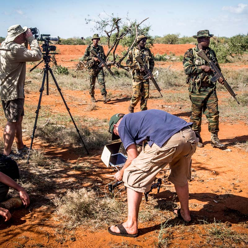 Filming patrol techniques e-learning with KWS | © Ranger Campus | Photo by Cees Baardman 2017