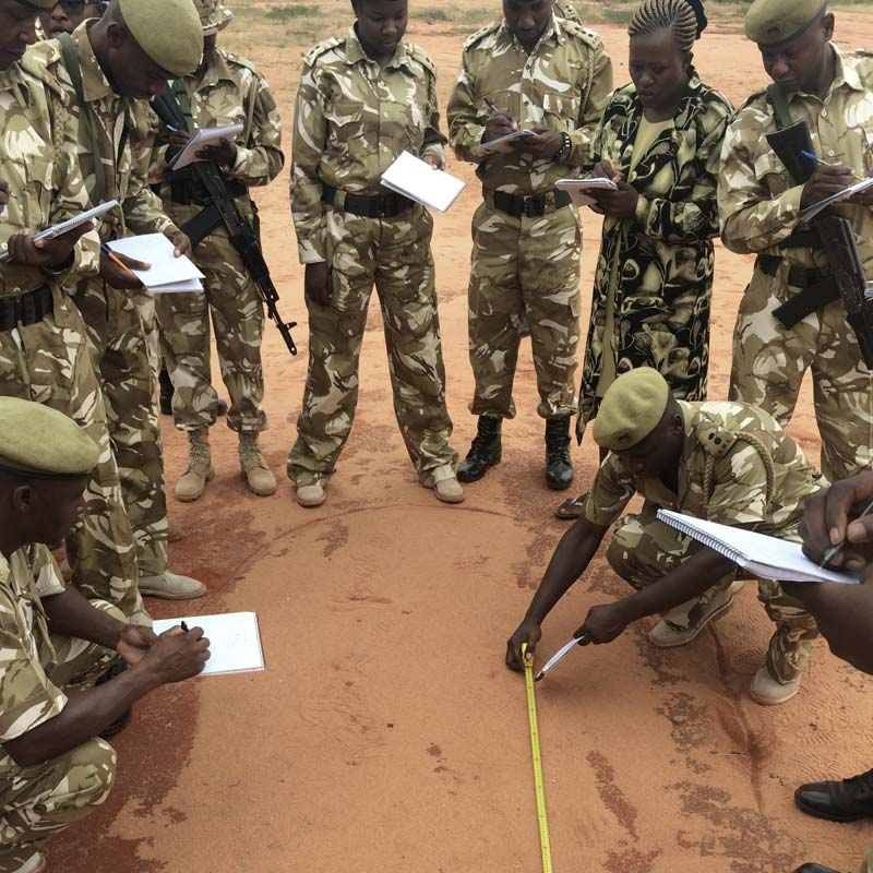 Wildlife Crime Scene Management Workshop, KWS Law Enforcement Academy, Kenya | © Ranger Campus | Photo by Boris Vos, 2017